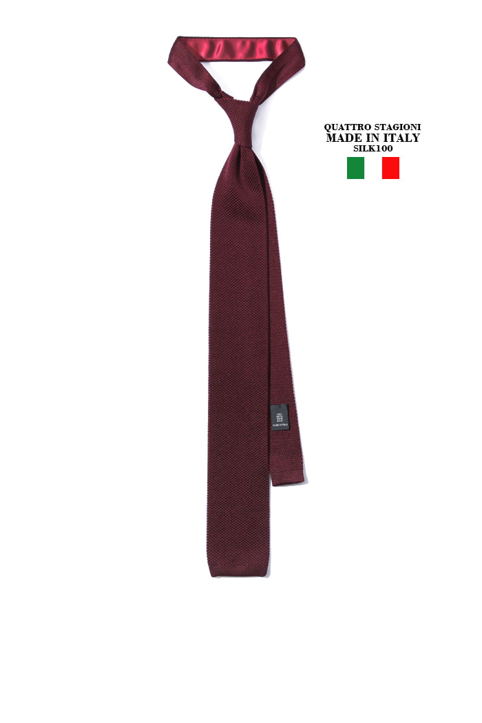 Take387 Quattro stagioni silk knit tie/wine[MADEIN ITALY-SILK 100%]-2/3이상판매완료!