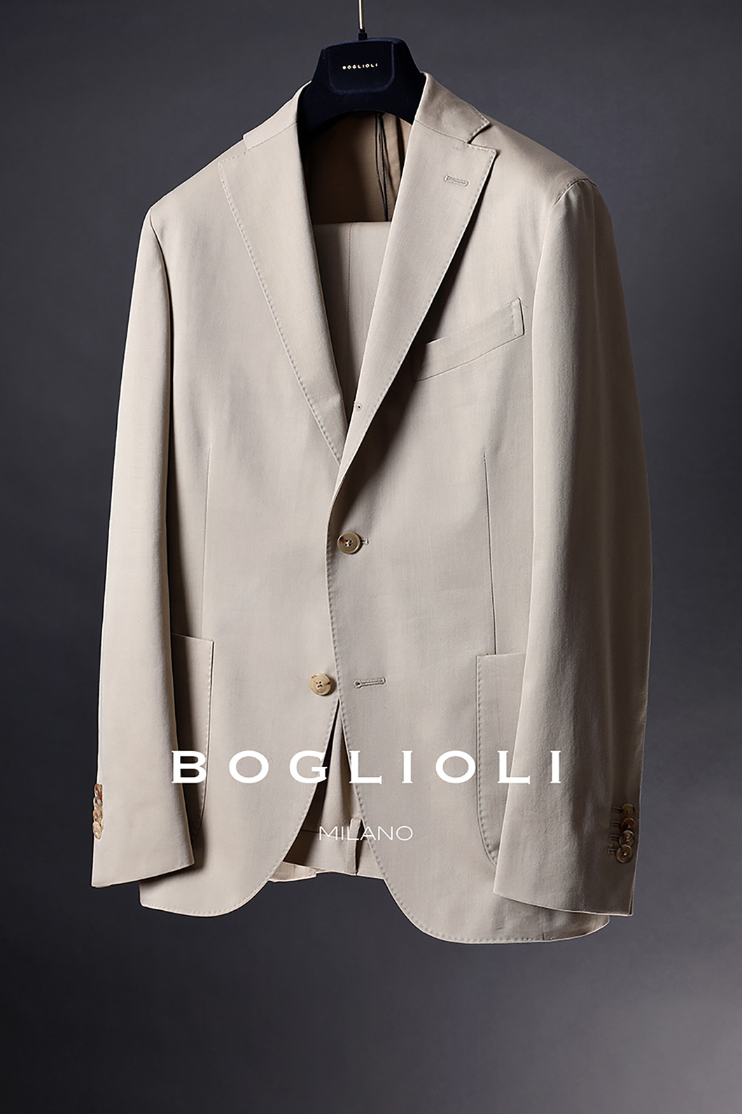BOGLIOLI SINGLE FORMAL SUIT-BEIGE[ITALY-Original]