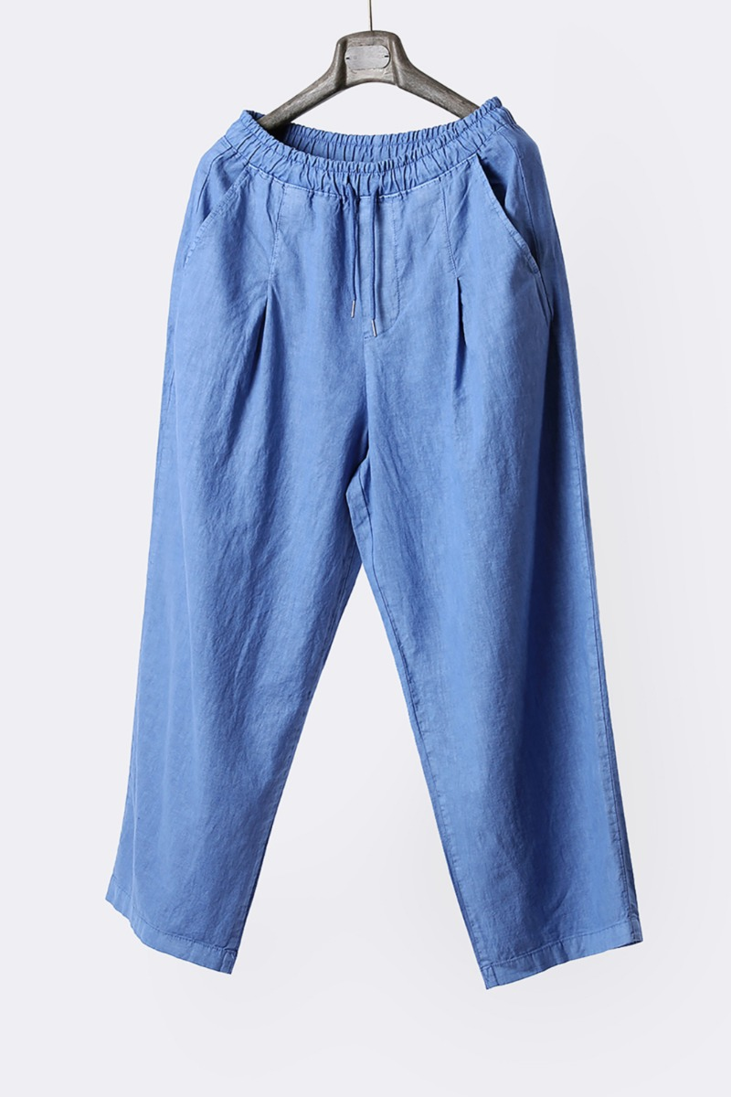 CHAPARRO STRING LINEN WIDE PANTS-2COLOR
